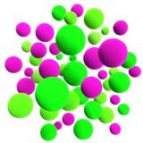 σφαίρες που χρωματίζονται Στοκ Εικόνες