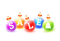 Σφαίρες πώλησης Χριστουγέννων Στοκ εικόνες με δικαίωμα ελεύθερης χρήσης