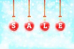 Σφαίρες πώλησης Χριστουγέννων Στοκ φωτογραφία με δικαίωμα ελεύθερης χρήσης