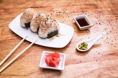 Σφαίρες ρυζιού Onigiri Στοκ Εικόνες