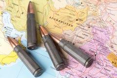 Σφαίρες στο χάρτη του Αφγανιστάν στοκ φωτογραφία με δικαίωμα ελεύθερης χρήσης