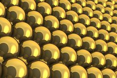 Σφαίρες του χρυσού Στοκ φωτογραφίες με δικαίωμα ελεύθερης χρήσης