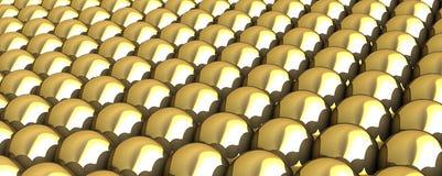 Σφαίρες του χρυσού Στοκ εικόνες με δικαίωμα ελεύθερης χρήσης