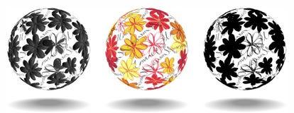 σφαίρες τρία λουλουδιώ&n Στοκ Εικόνες