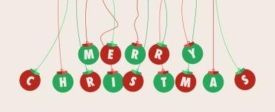 Σφαίρες Χαρούμενα Χριστούγεννας Στοκ φωτογραφίες με δικαίωμα ελεύθερης χρήσης