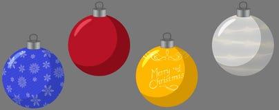 Σφαίρες Χριστουγέννων για το δέντρο απεικόνιση αποθεμάτων