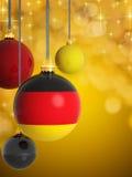 Σφαίρες Χριστουγέννων με τη γερμανική σημαία Στοκ Εικόνα