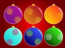 Σφαίρες Χριστουγέννων Στοκ Εικόνες