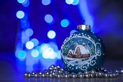 Σφαίρες Χριστουγέννων bokeh Στοκ φωτογραφία με δικαίωμα ελεύθερης χρήσης