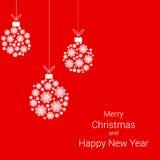Σφαίρες Χριστουγέννων snowflakes απεικόνιση αποθεμάτων