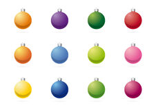 Σφαίρες χριστουγεννιάτικων δέντρων Στοκ φωτογραφία με δικαίωμα ελεύθερης χρήσης