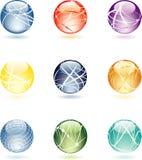 σφαίρες aqua απεικόνιση αποθεμάτων