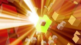 Σφαίρες Shinning της ενέργειας απόθεμα βίντεο