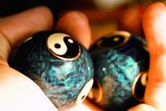 σφαίρες yang ying Στοκ Εικόνες