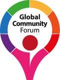 Σφαιρικές κοινοτικές φόρουμ και επικοινωνία διανυσματική απεικόνιση