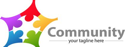 Σφαιρικές κοινοτικές φόρουμ και επικοινωνία ελεύθερη απεικόνιση δικαιώματος