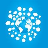 Σφαιρικές κοινωνικές επιχειρησιακές επικοινωνίες μέσων Στοκ φωτογραφία με δικαίωμα ελεύθερης χρήσης