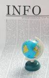 σφαιρικές πληροφορίες Στοκ εικόνα με δικαίωμα ελεύθερης χρήσης
