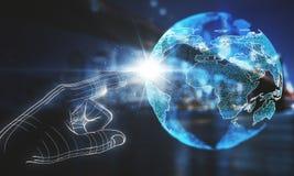 Σφαιρική έννοια επιχειρήσεων και δικτύων στοκ εικόνες με δικαίωμα ελεύθερης χρήσης