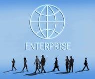 Σφαιρική έννοια εταιριών οικονομικών επιχειρησιακής επιχείρησης στοκ φωτογραφίες