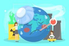 Σφαιρική έννοια θέρμανσης Ιδέα της κλιματικής αλλαγής απεικόνιση αποθεμάτων