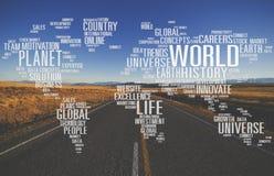 Σφαιρική έννοια καινοτομίας κόσμου παγκόσμιας γης πλανητών Στοκ εικόνες με δικαίωμα ελεύθερης χρήσης