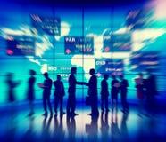 Σφαιρική έννοια συνεδρίασης του νομίσματος επιχειρηματιών Στοκ Φωτογραφία