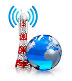 Σφαιρική έννοια τηλεπικοινωνιών Στοκ Εικόνες
