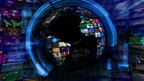 Σφαιρική γραφική παράσταση τεχνολογίας ειδησεογραφικών μέσων απεικόνιση αποθεμάτων