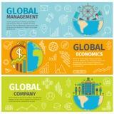 Σφαιρική επιχείρηση διοικητικών οικονομικών εμβλημάτων Στοκ εικόνες με δικαίωμα ελεύθερης χρήσης
