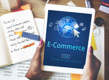 Σφαιρική επιχειρησιακή σε απευθείας σύνδεση τεχνολογία Γ μάρκετινγκ ηλεκτρονικού εμπορίου ψηφιακή Στοκ Εικόνα
