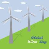 Σφαιρική ημέρα αέρα επίσης corel σύρετε το διάνυσμα απεικόνισης Στοκ φωτογραφία με δικαίωμα ελεύθερης χρήσης