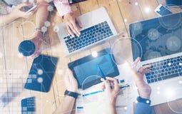 Σφαιρική διεπαφή γραφικών παραστάσεων καινοτομίας εικονιδίων στρατηγικής εικονική Νέα διαδικασία αιθουσών συνεδριάσεων του 'brain Στοκ Εικόνα