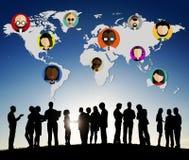 Σφαιρική κοινοτική έννοια υπηκοότητας παγκόσμιων ανθρώπων διεθνής Στοκ εικόνα με δικαίωμα ελεύθερης χρήσης
