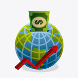 Σφαιρική οικονομία, χρήματα και επιχείρηση Στοκ φωτογραφία με δικαίωμα ελεύθερης χρήσης