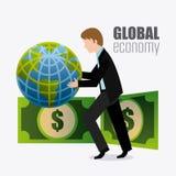 Σφαιρική οικονομία, χρήματα και επιχείρηση Στοκ εικόνες με δικαίωμα ελεύθερης χρήσης