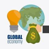 Σφαιρική οικονομία, χρήματα και επιχείρηση Στοκ Εικόνες
