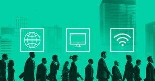 Σφαιρική παγκόσμια ψηφιακή σύγχρονη έννοια σύνδεσης στοκ φωτογραφία