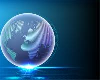 Σφαιρική ποιότητα δικτύων γραμμών πληροφοριών παγκόσμιου bigdata Wireframe διανυσματική απεικόνιση