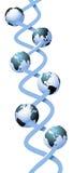 Σφαιρικός ανθρώπινος κόσμος υγείας DNA γενετικός Στοκ φωτογραφία με δικαίωμα ελεύθερης χρήσης
