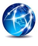 σφαιρικός κόσμος επικοινωνίας εμπορίου της Αμερικής Στοκ εικόνες με δικαίωμα ελεύθερης χρήσης