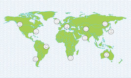 σφαιρικός χάρτης συνδέσεων Στοκ φωτογραφία με δικαίωμα ελεύθερης χρήσης