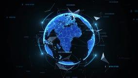 Σφαιρικός ψηφιακός κόσμος απόθεμα βίντεο