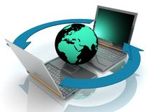 σφαιρικό δίκτυο Ίντερνετ απεικόνιση αποθεμάτων