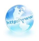 σφαιρικό Διαδίκτυο Στοκ φωτογραφία με δικαίωμα ελεύθερης χρήσης