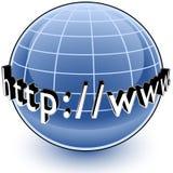 σφαιρικό εικονίδιο Διαδίκτυο Στοκ εικόνα με δικαίωμα ελεύθερης χρήσης