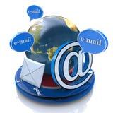 Σφαιρικό ηλεκτρονικό ταχυδρομείο ελεύθερη απεικόνιση δικαιώματος