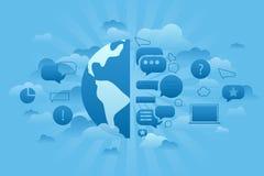 Σφαιρικό μπλε φόρουμ απεικόνιση αποθεμάτων