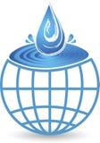 Σφαιρικό λογότυπο πτώσης παφλασμών ελεύθερη απεικόνιση δικαιώματος