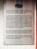 Σφαιρικό σημάδι αλεών του Μόντρεαλ Refus Στοκ εικόνα με δικαίωμα ελεύθερης χρήσης